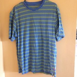 IZOD Men's Large Blue And Green Shirt